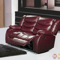 Burgundy Leather Sofa And Loveseat Billig Chaiselong 644burg Reclining With Pillow Arms