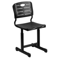 Adjustable Height Black Student Chair with Black Pedestal ...