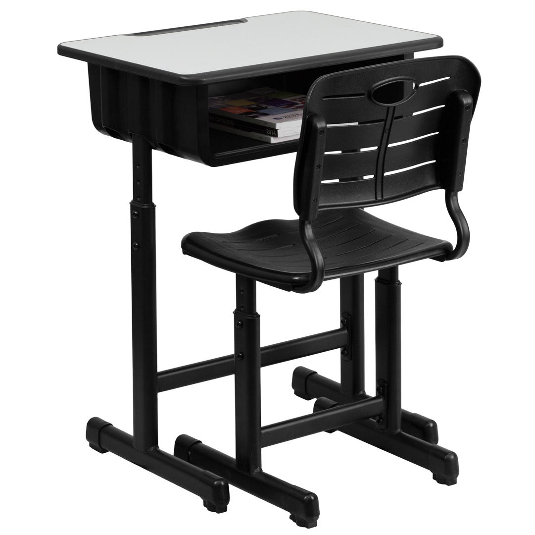 Student Desk And Chair Adjustable Height Student Desk And Chair With Black
