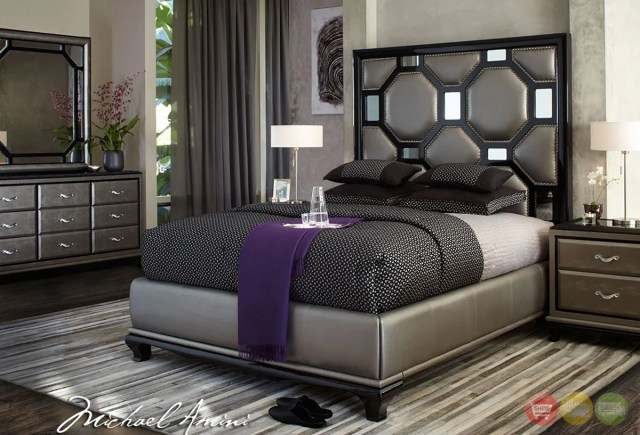 Michael Amini After Eight Modern Upholstered Bedroom ...