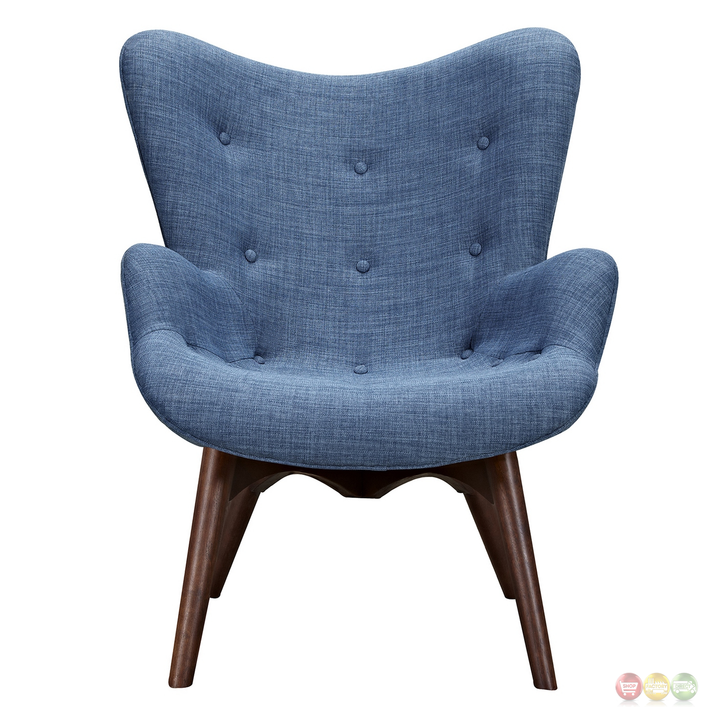 modern blue chair wedding covers pembrokeshire aiden mid century fabric and ottoman in