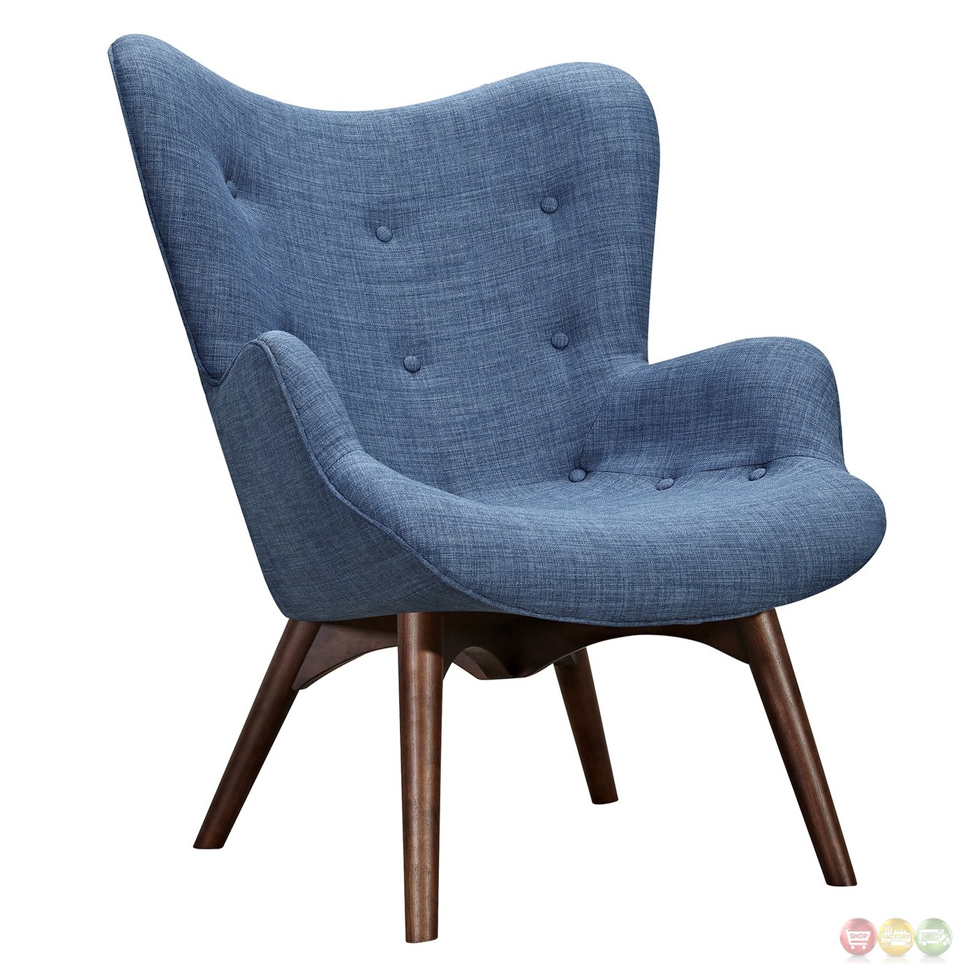 modern blue chair bedroom french aiden mid century fabric and ottoman in
