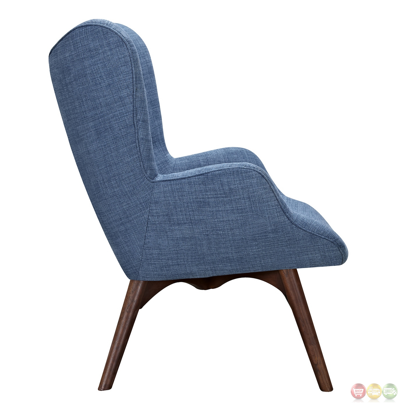 modern blue chair best gaming for xbox aiden mid century fabric and ottoman in