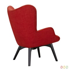 Modern Red Chair Outdoor High Aiden Mid Century Fabric And Ottoman In