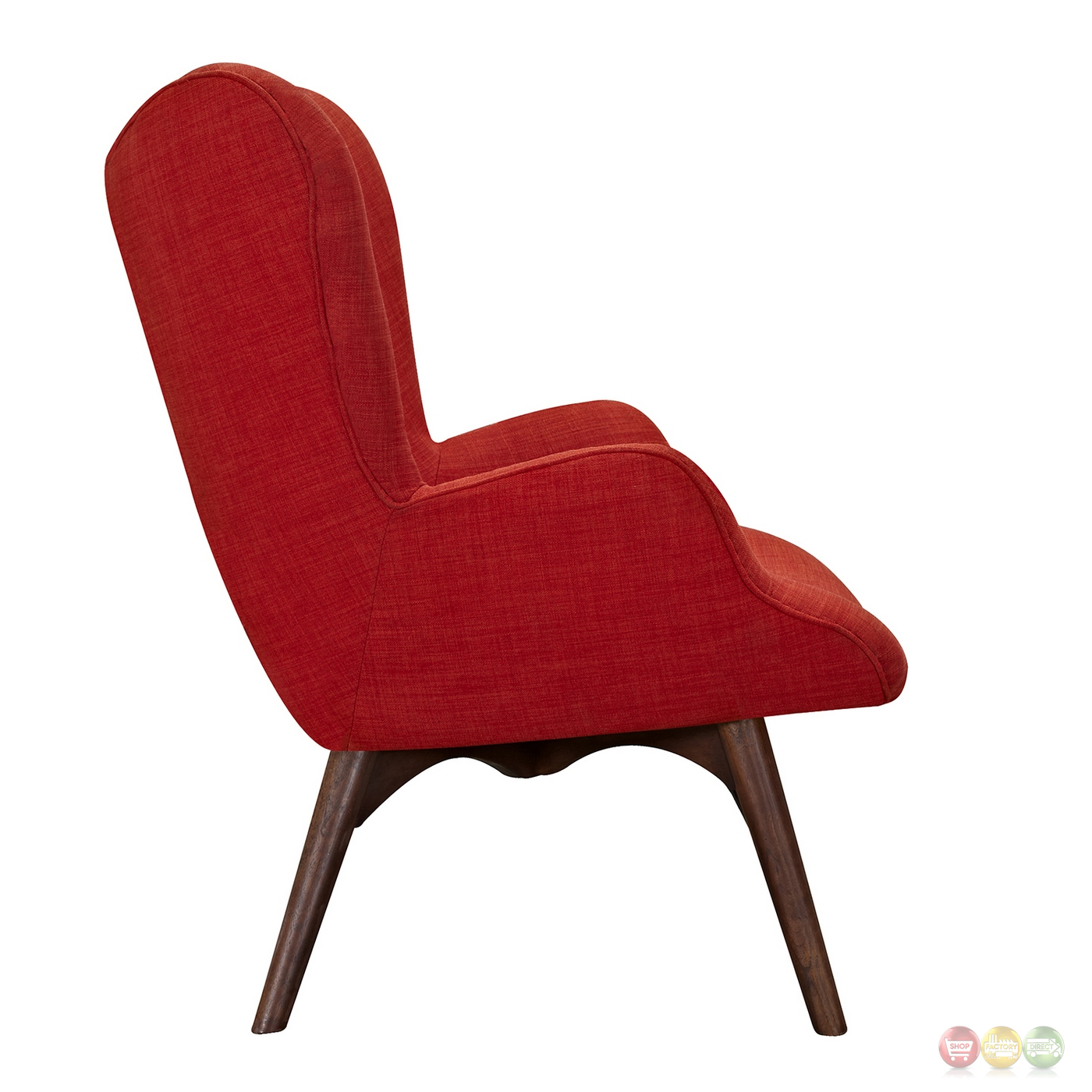 modern red chair design love aiden mid century fabric and ottoman in