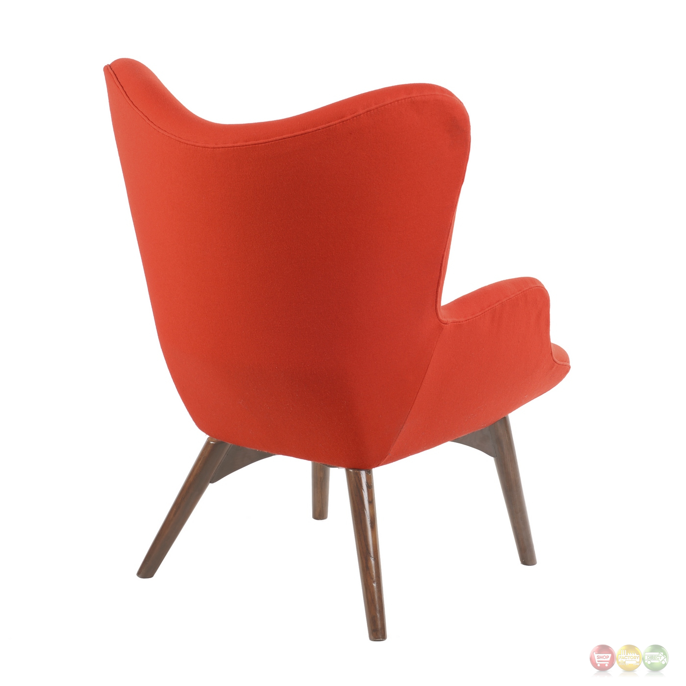modern red chair how to make covers for birthday party aiden mid century fabric and ottoman in