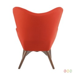 Modern Red Chair Ergonomic Dimensions Aiden Mid Century Fabric And Ottoman In