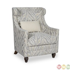Transitional Accent Chairs Belmont Barber Chair Parts Canada Amanda Down Filled Tiger Stripe