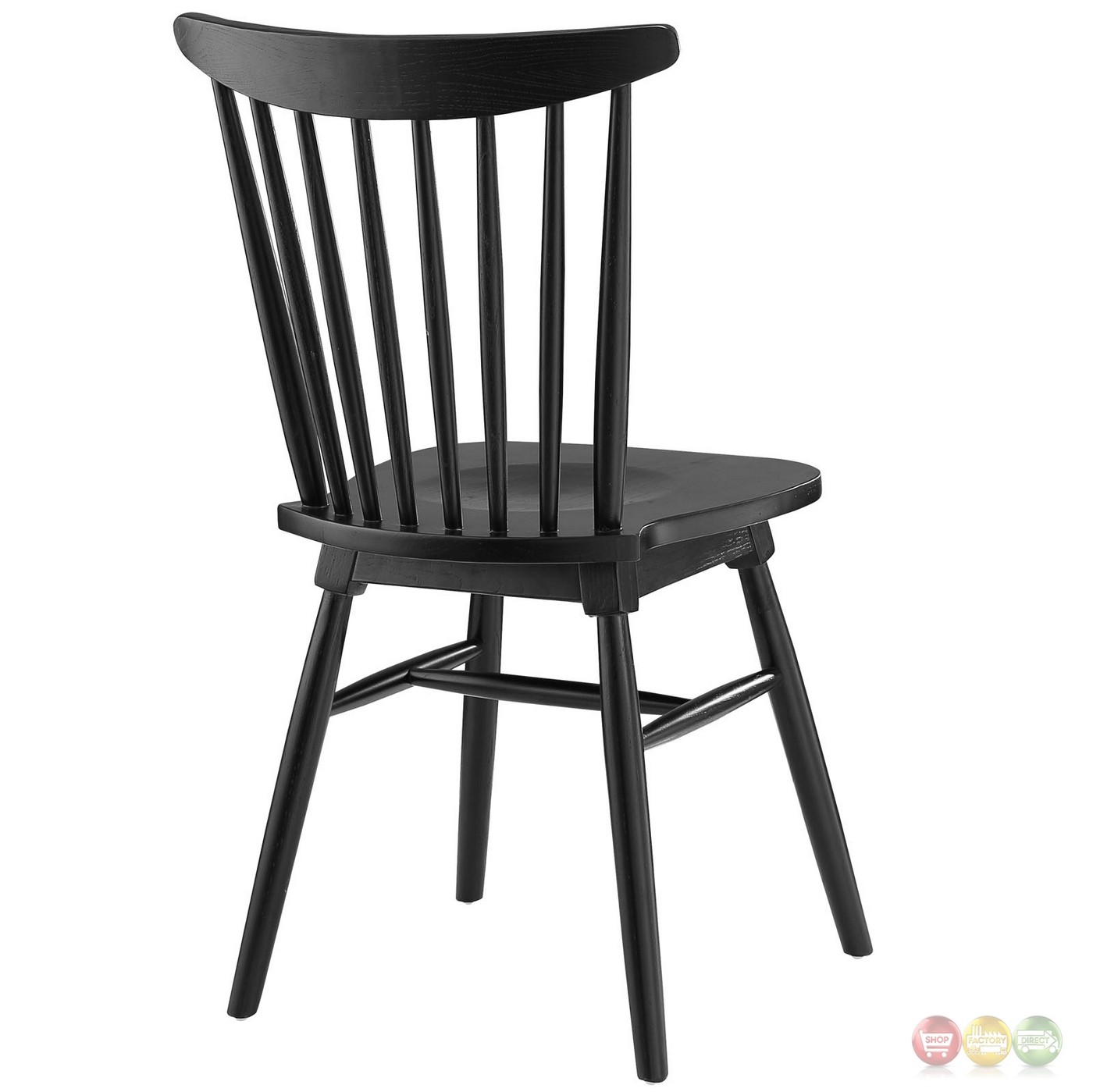 Wood Dining Chair Amble Modern Country Inspired Spindled Wood Dining Side