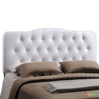 Annabel Faux Leather Button-tufted Arched Queen Headboard ...