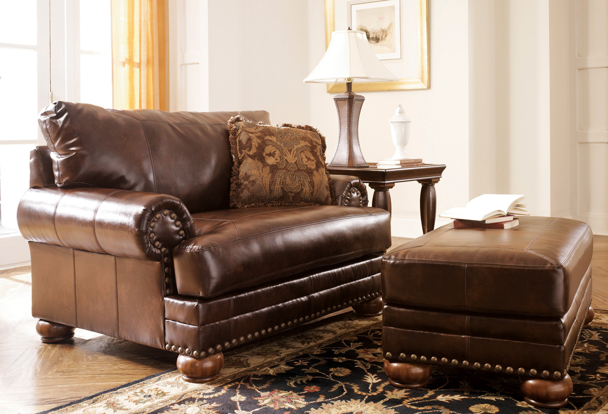 traditional sofa sets living room country sleeper bonded leather antique brown and loveseat set