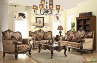 Antique Style Wing Back Sofa & Love Seat French Provincial