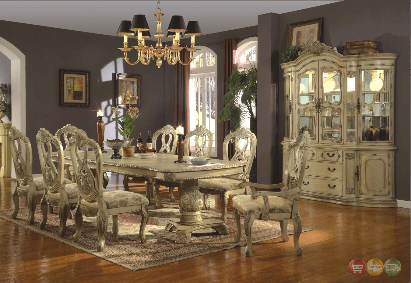 Traditional Dining Room Chairs Whitehall Formal Dining Double Pedestal Table