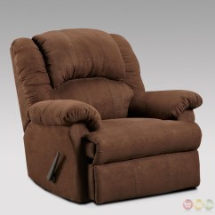 Rocking Recliner Chairs Leather Dining Johannesburg Aruba Chocolate Brown Fabric Rocker Casual