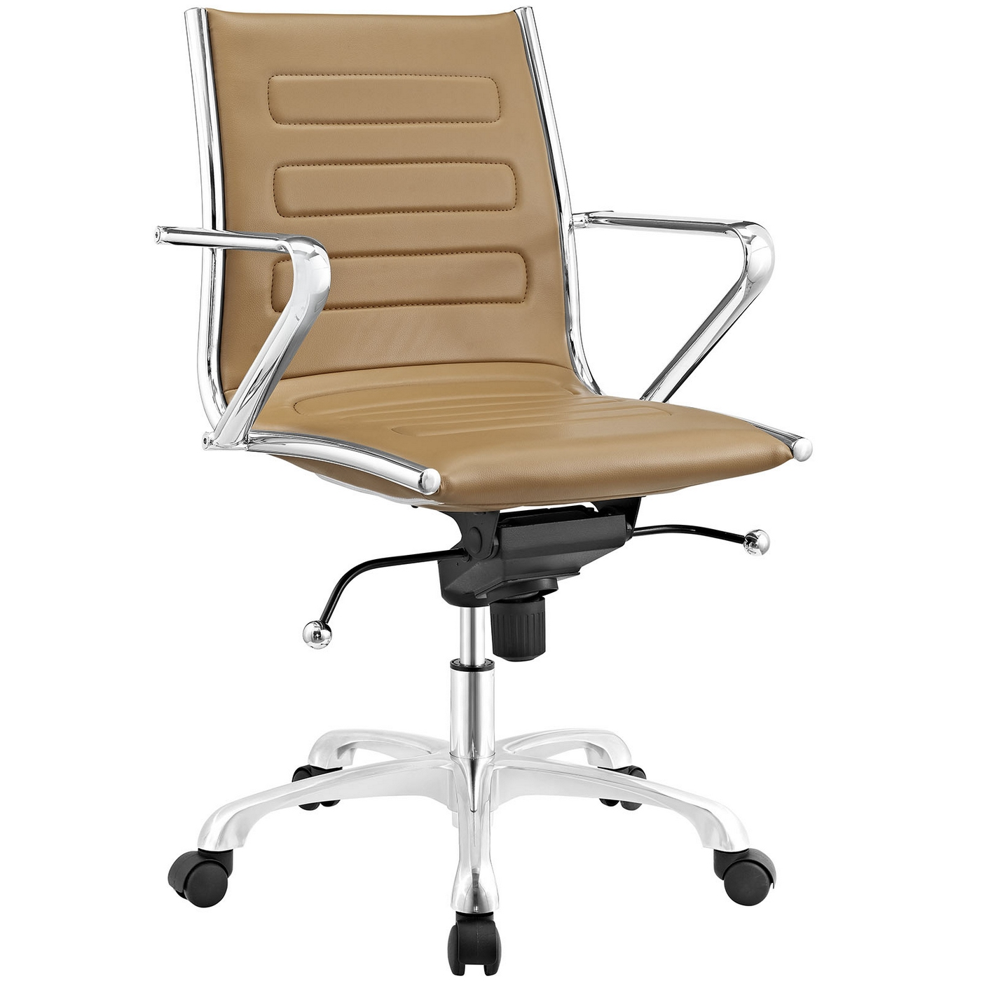 Ascend Modern Padded Vinyl Mid Back Office Chair W/tilt