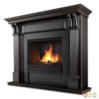 Ashley Indoor Ventless Gel Fireplace In White With Cast ...