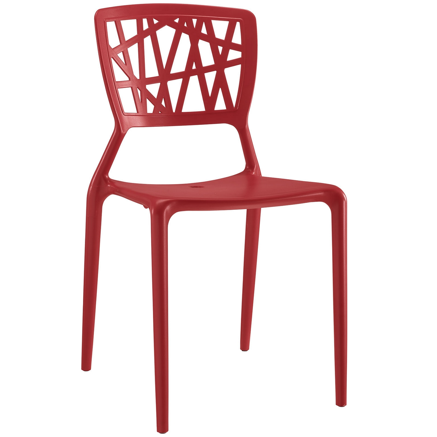 modern plastic chair hanging ikea astro contoured dining side red