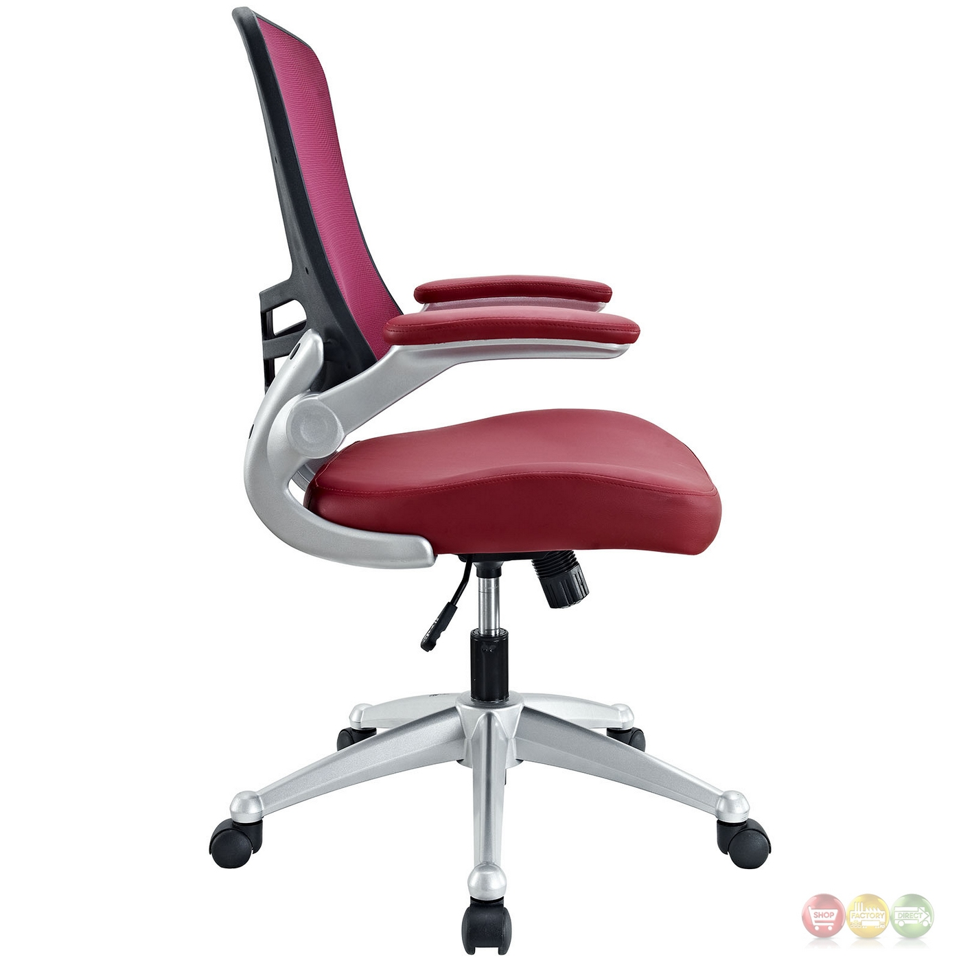 Burgundy Office Chair Attainment Modern Ergonomic Mesh Back Office Chair W