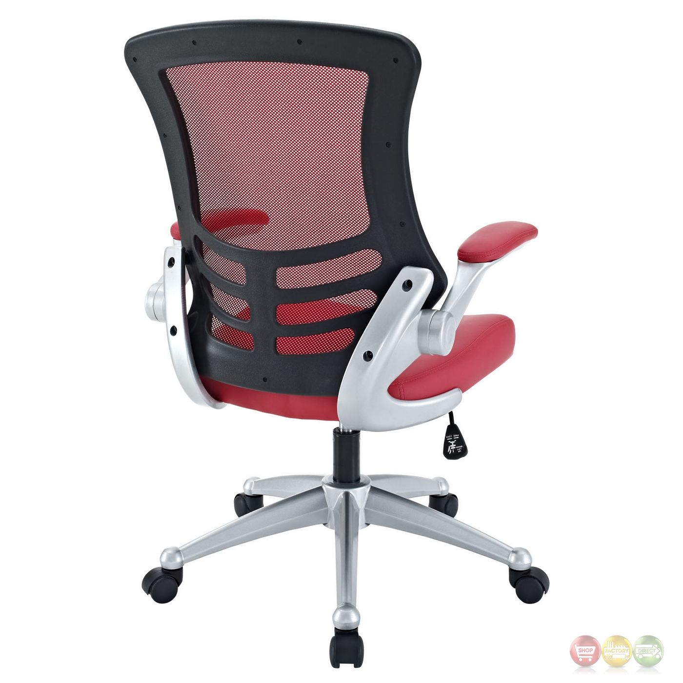 office chair lumbar support mesh black and cream dining chairs attainment modern ergonomic back w