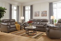 Bastrop Steel Gray Bonded Leather Casual Contemporary Sofa
