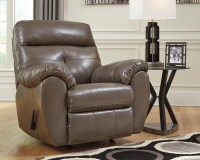 Bastrop Steel Gray Bonded Leather Casual Contemporary Sofa ...