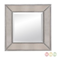 Beaded Silver Leaf Traditional Wall Mirror M3592BEC