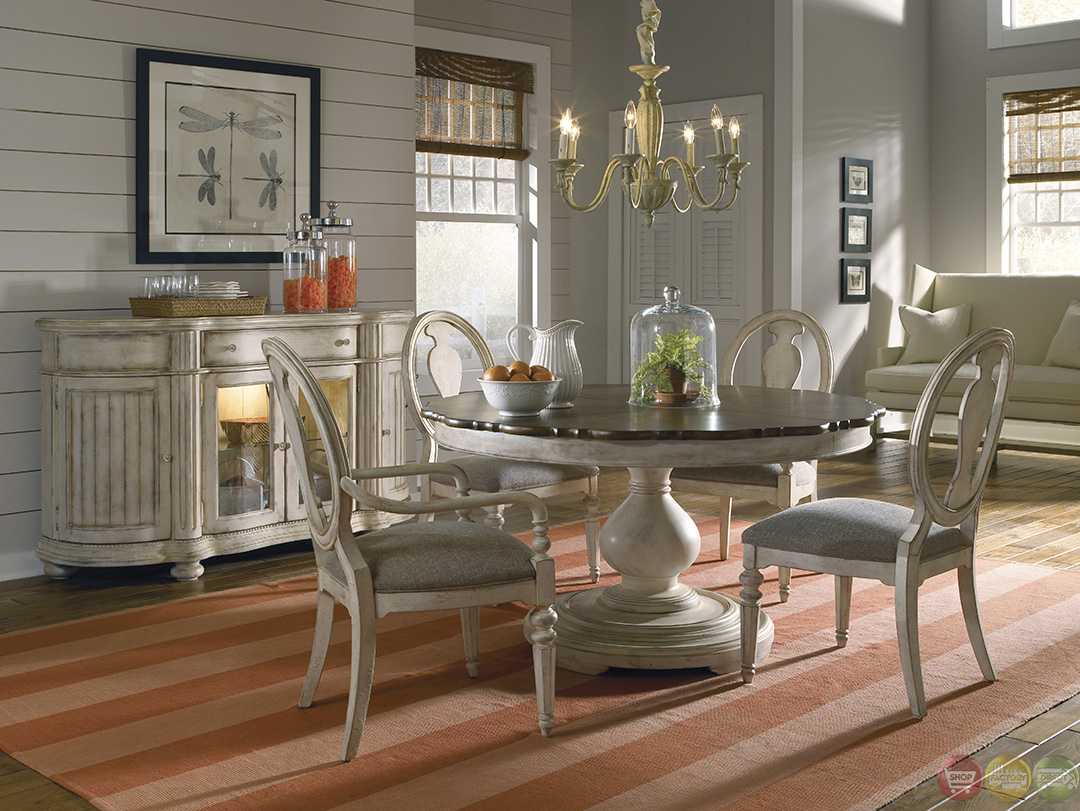 coastal kitchen table and chairs fluorescent light fixture belmar luxury whitewash finish round oval dining