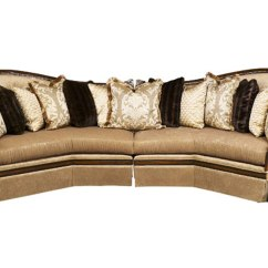 Wooden Sectional Sofa Tiny Luna Exposed Solid Wood Frame With Pillows