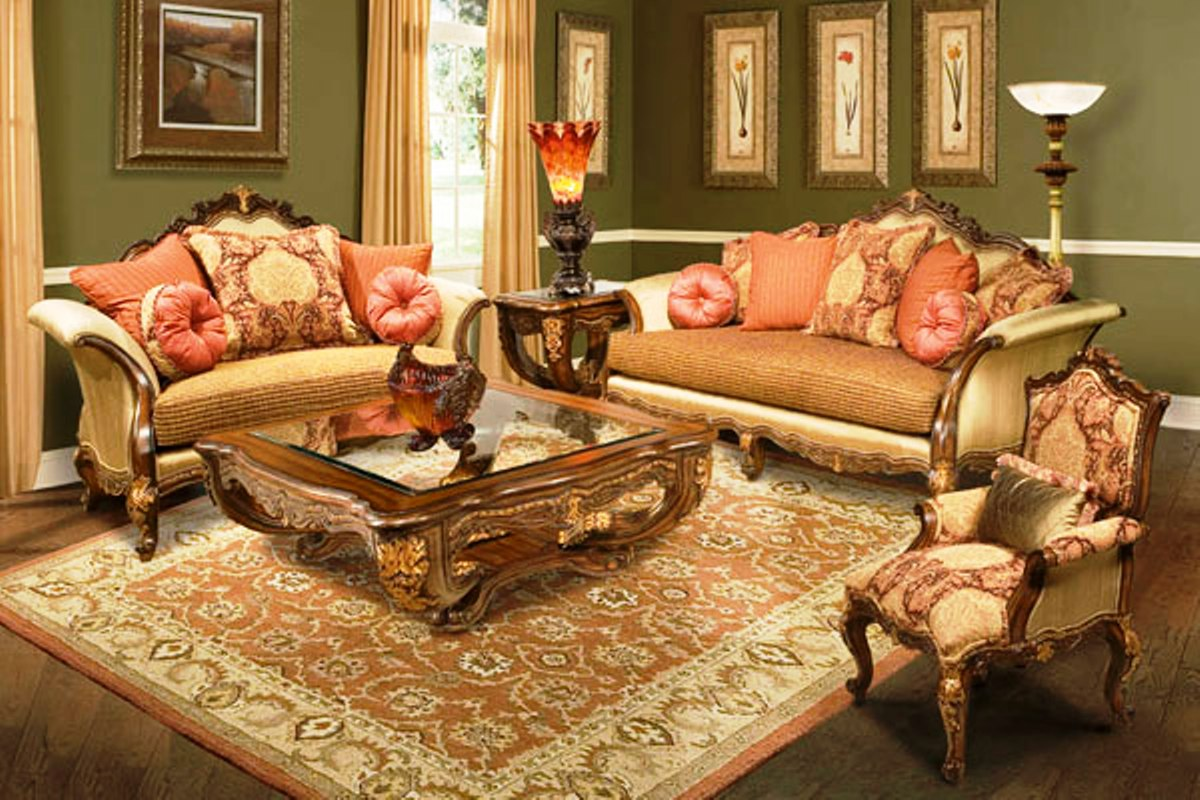 solid wood sofa set best for under 2000 regalia hand carved frame formal