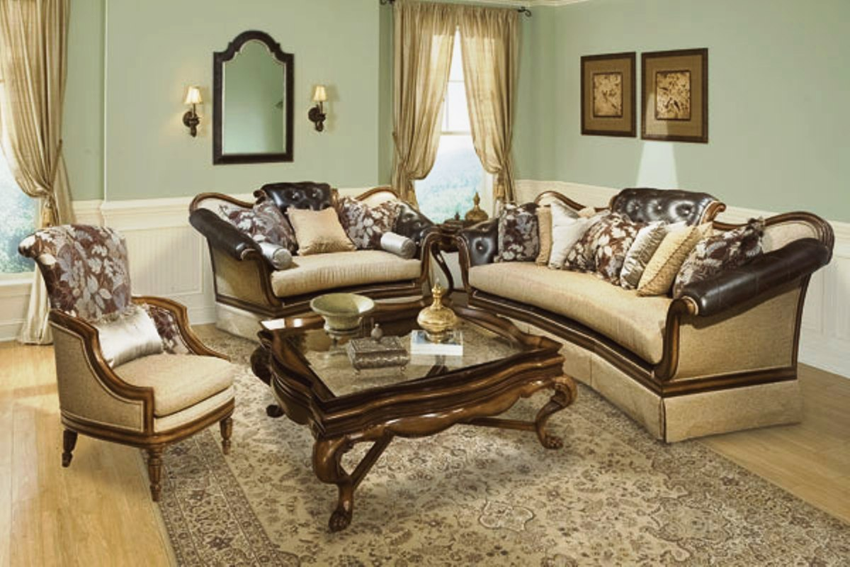 antique living room chair styles poang cushion salvatore style button tufted sofa set