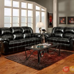 Motion Sofa Set Black Grey Corner Modular Rattan Weave Garden Furniture Bonded Leather Casual Living Room