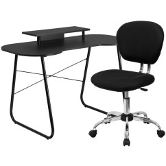 Chair Computer Stand Replacement Webbing For Lawn Chairs Black Desk With Monitor And Mesh Nan 1 Gg