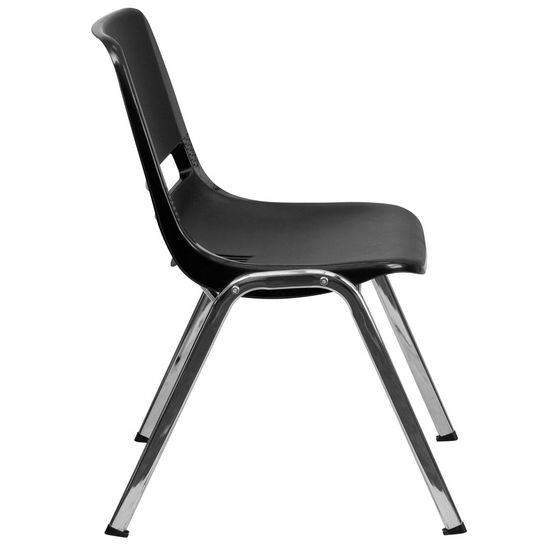 lifetime stacking chairs 2830 black molded seat folding chair legs ergonomic shell with chrome frame and