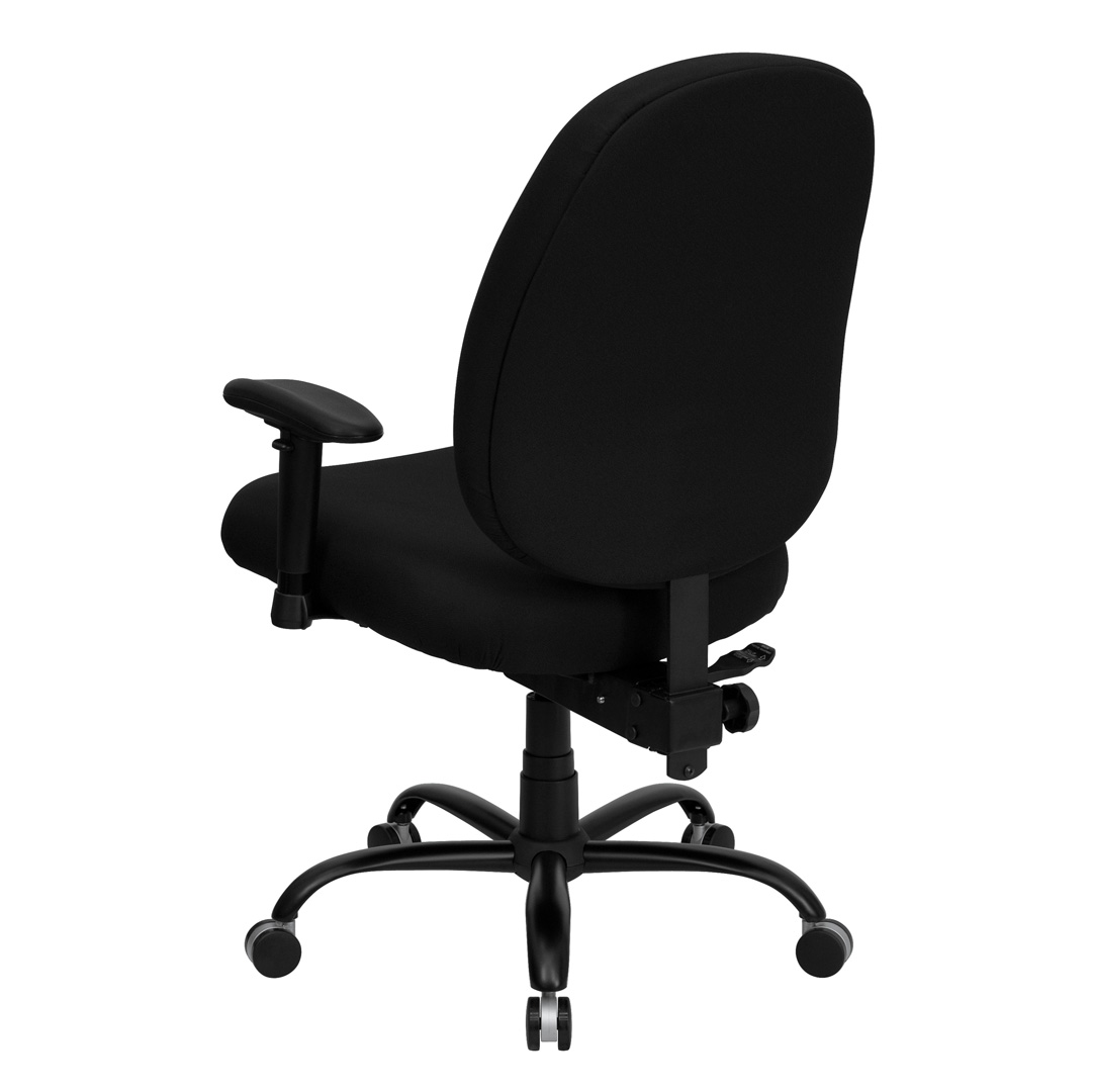 Extra Wide Office Chairs Black Fabric Large Office Chair With Arms And Extra Wide