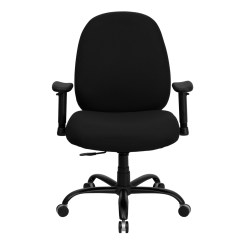 Office Chair Extra Wide Ergonomic Norway Black Fabric Large With Arms And
