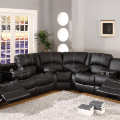 Sectional Reclining Leather Sofas How To Clean Water Stained Sofa Black Faux Motion W