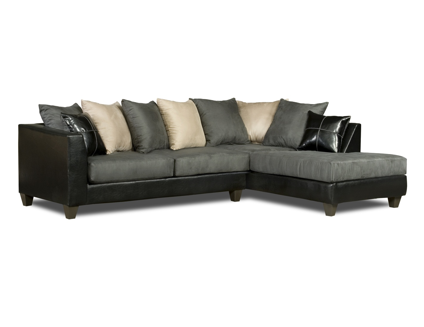 gray sofa sectional cover material online india black and white loose pillow back 4185
