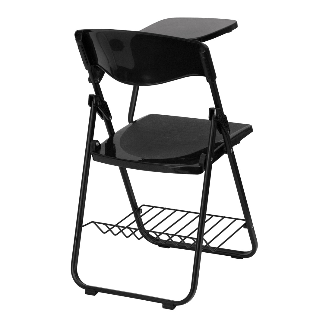 black plastic chairs potty training chair with left handed tablet arm and book