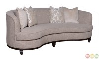 Blair Fawn Transitional Kidney Sofa Living Room Set