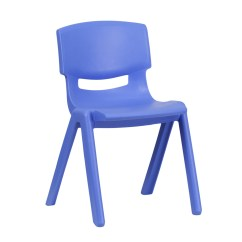Staples Stacking Chairs Oxblood Leather Wingback Chair Blue Plastic Stackable School With 13 25 Inch Seat