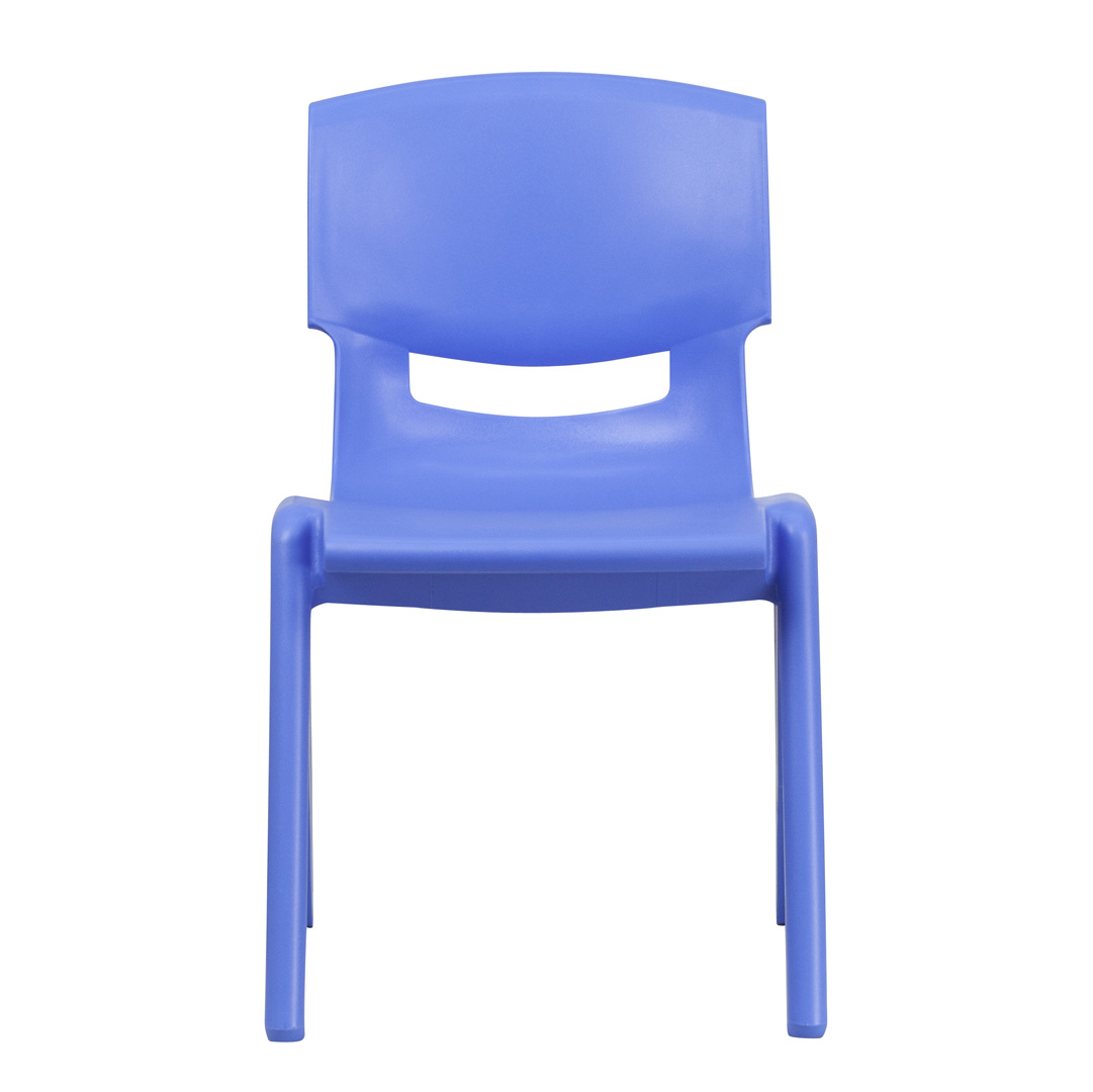 Plastic Stacking Chairs Blue Plastic Stackable School Chair With 15 5 Inch Seat