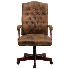 Brown Office Chairs Furniture Conference Table And Bomber Classic Executive Chair 802 Brn Gg