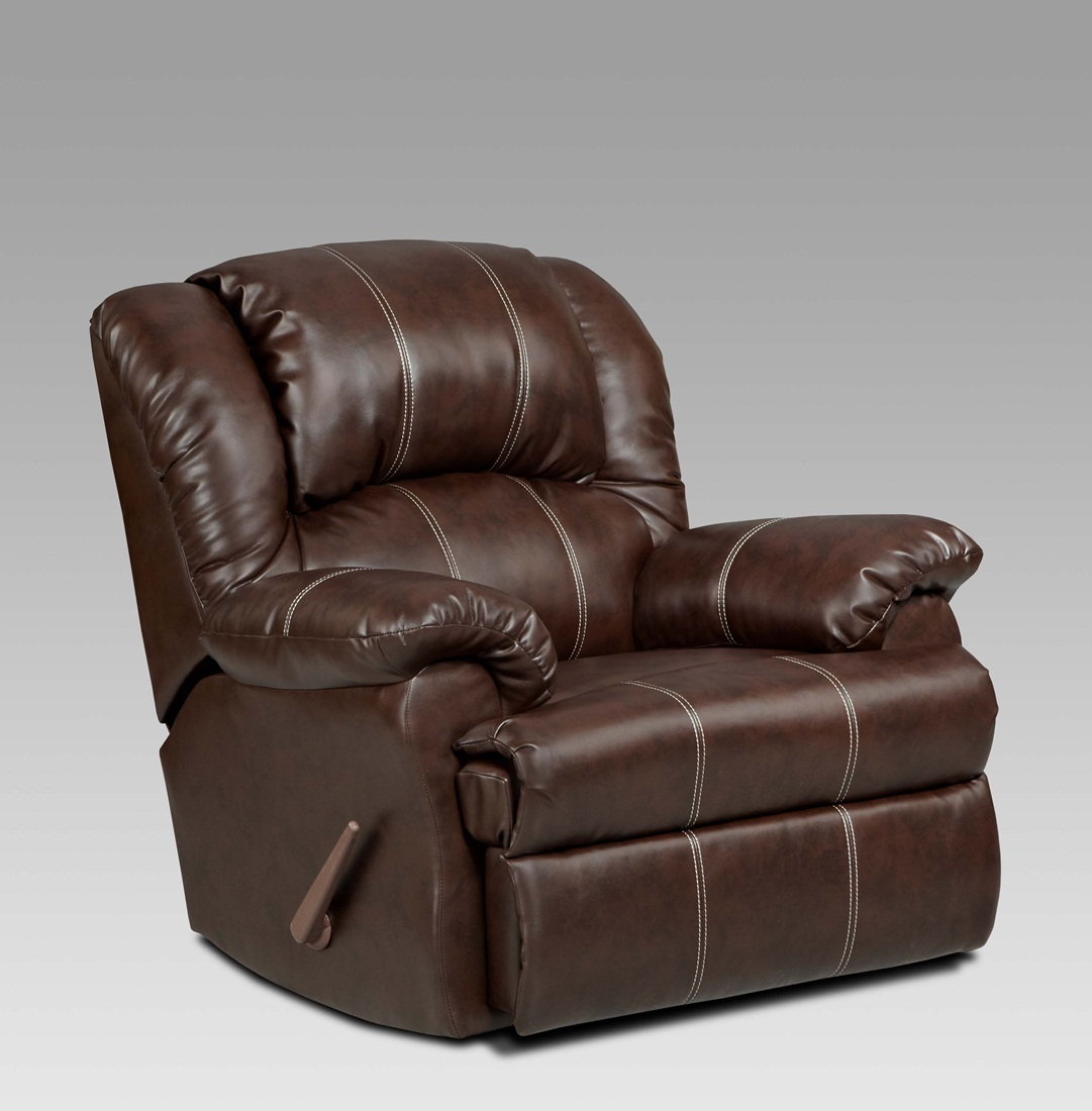 Reclining Leather Chair Brandon Brown Bonded Leather Rocker Recliner Brown