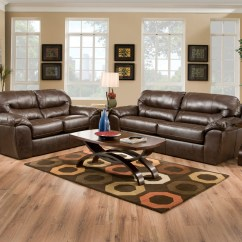 Leather And Fabric Sofa In Same Room Arizona Sofas Brantley Java Brown Like Casual Living