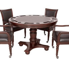Poker Table With Chairs Country Kitchen And Bridgeport 5pc 48 Quot Game Set In