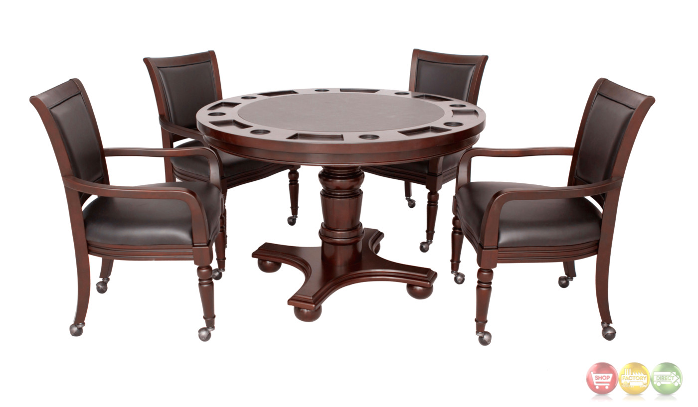 Poker Table With Chairs Bridgeport 5pc 48 Quot Poker Game Table Set With Chairs In