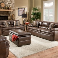 Living Room Leather Chairs Game Of Thrones Office Chair Brown Bonded Sofa Set Casual Furniture
