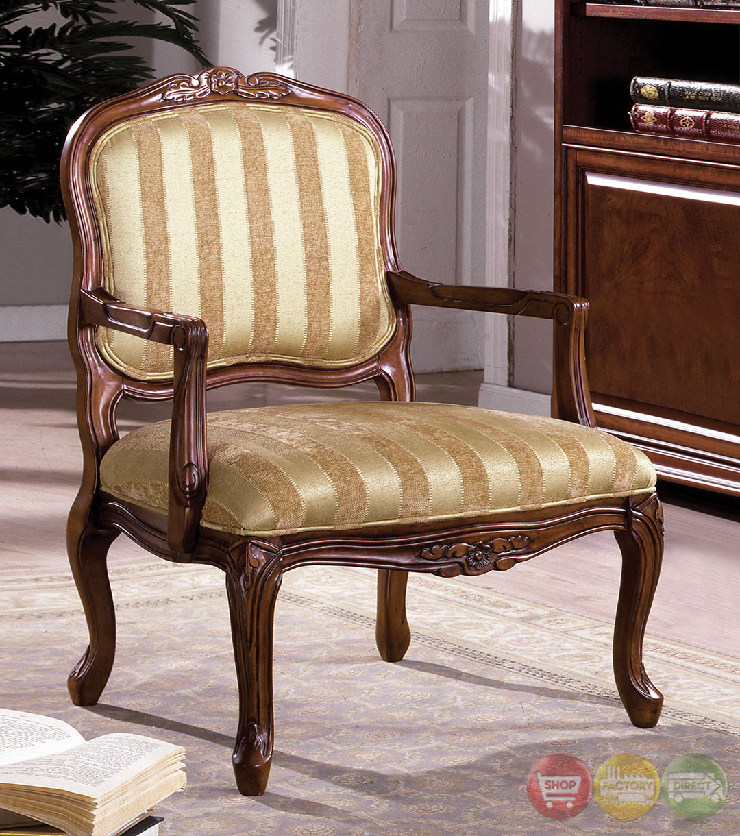 Wood Accent Chair Burnaby Antique Oak Accent Chair With Hand Carved Wood