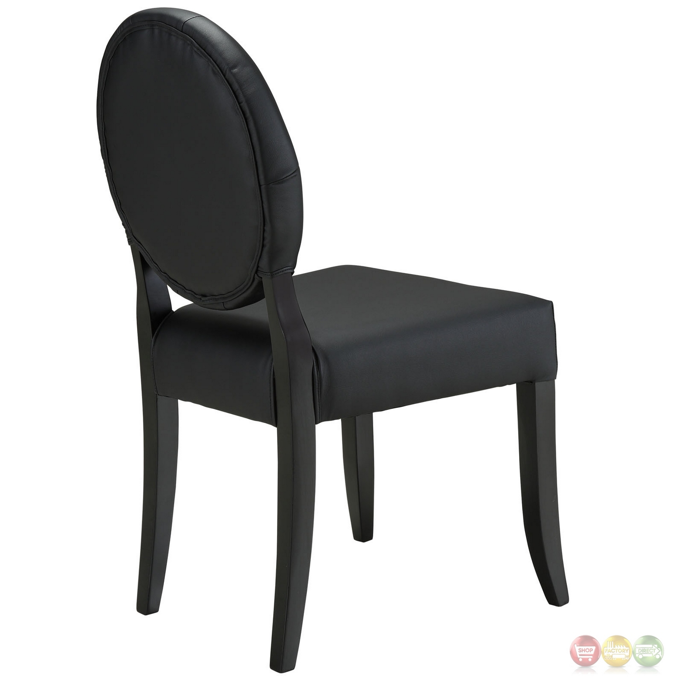 black tufted dining chair dxracer review button contemporary vinyl side