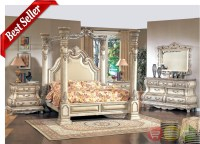 Caledonian Victorian Inspired Canopy Bedroom Set in ...